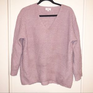 Lou & Grey Lavender Knit Oversized Sweater, Small